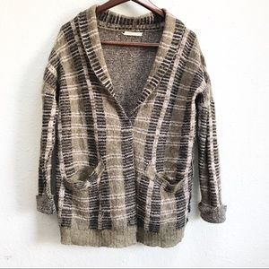 Gilded Intent (BKE) Mohair/Wool Cardigan Button Up